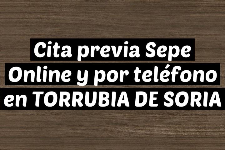 Cita previa Sepe Online y por teléfono en TORRUBIA DE SORIA