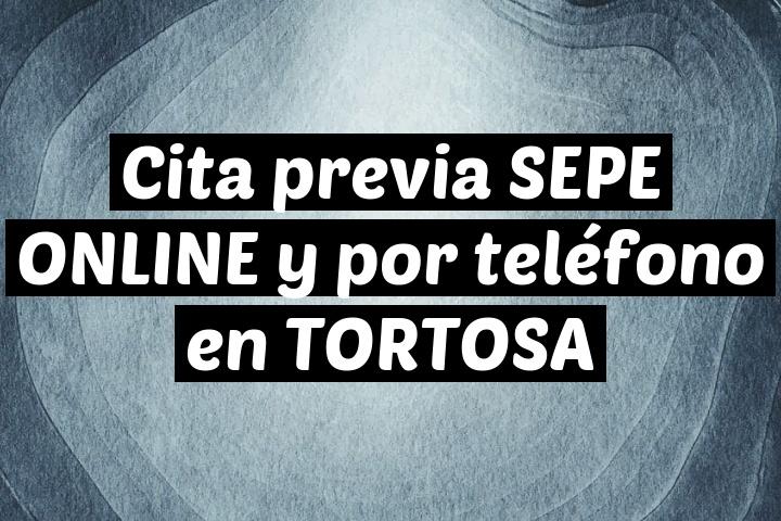 Cita previa SEPE ONLINE y por teléfono en TORTOSA