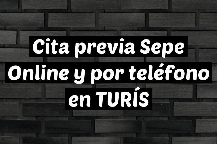 Cita previa Sepe Online y por teléfono en TURÍS