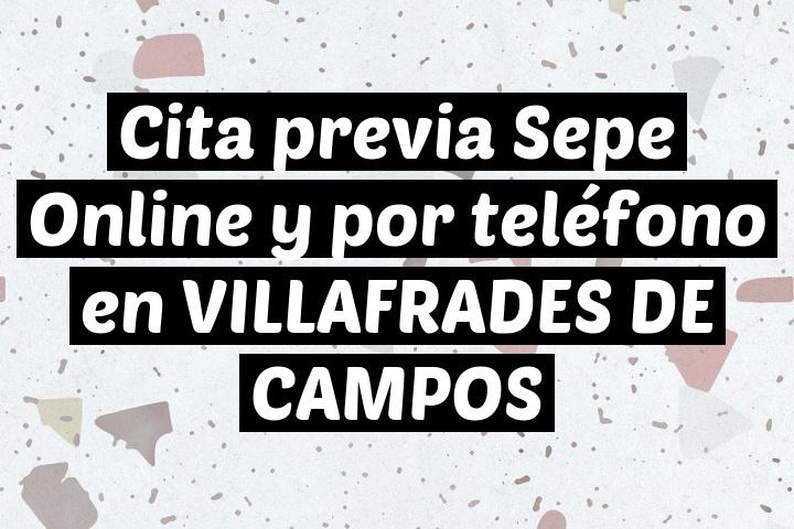 Cita previa Sepe Online y por teléfono en VILLAFRADES DE CAMPOS