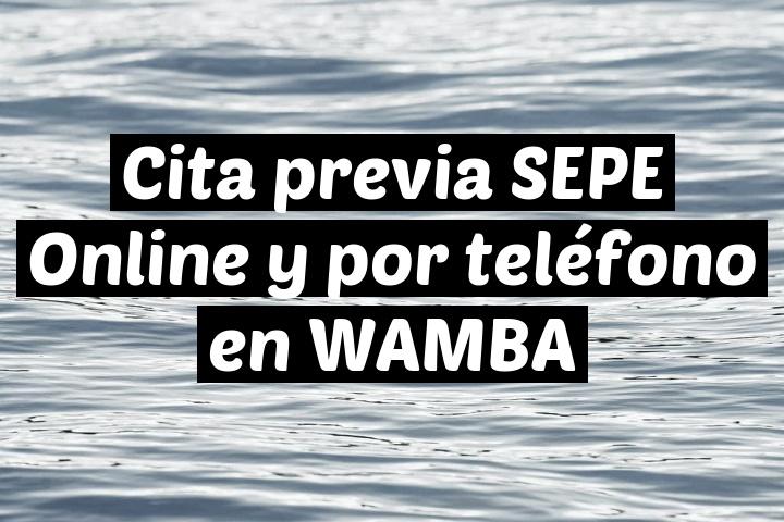 Cita previa SEPE Online y por teléfono en WAMBA