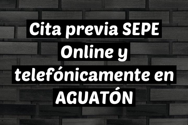 Cita previa SEPE Online y telefónicamente en AGUATÓN