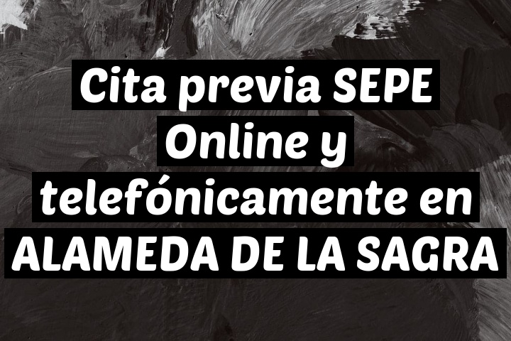 Cita previa SEPE Online y telefónicamente en ALAMEDA DE LA SAGRA