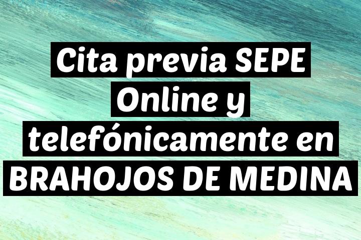 Cita previa SEPE Online y telefónicamente en BRAHOJOS DE MEDINA