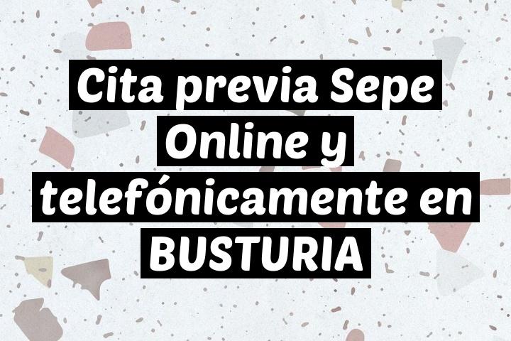 Cita previa Sepe Online y telefónicamente en BUSTURIA