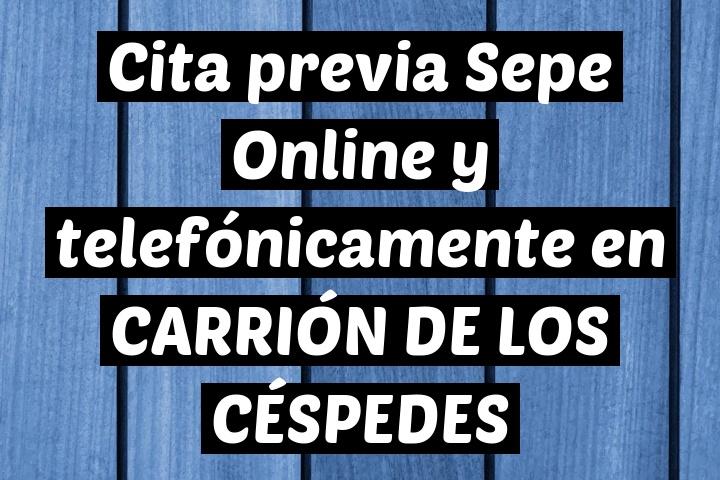 Cita previa Sepe Online y telefónicamente en CARRIÓN DE LOS CÉSPEDES