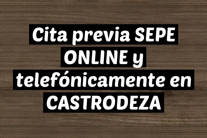 Cita previa SEPE ONLINE y telefónicamente en CASTRODEZA