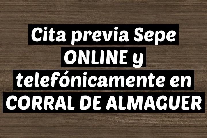 Cita previa Sepe ONLINE y telefónicamente en CORRAL DE ALMAGUER