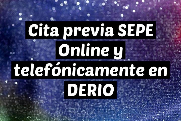 Cita previa SEPE Online y telefónicamente en DERIO
