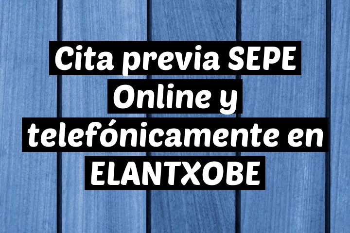 Cita previa SEPE Online y telefónicamente en ELANTXOBE