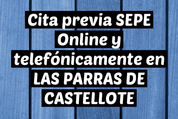 Cita previa SEPE Online y telefónicamente en LAS PARRAS DE CASTELLOTE