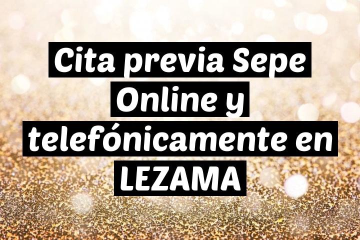 Cita previa Sepe Online y telefónicamente en LEZAMA