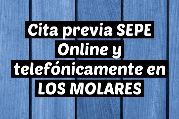 Cita previa SEPE Online y telefónicamente en LOS MOLARES