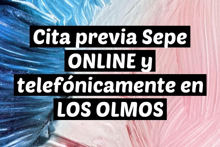 Cita previa Sepe ONLINE y telefónicamente en LOS OLMOS