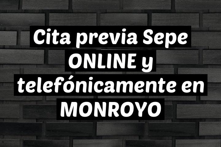 Cita previa Sepe ONLINE y telefónicamente en MONROYO