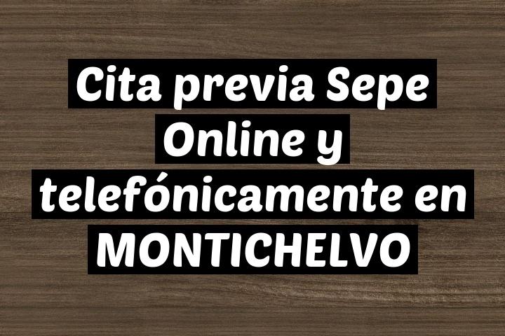 Cita previa Sepe Online y telefónicamente en MONTICHELVO
