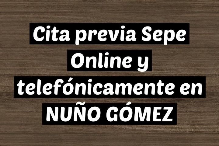 Cita previa Sepe Online y telefónicamente en NUÑO GÓMEZ