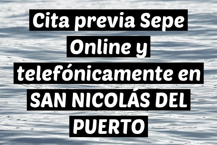 Cita previa Sepe Online y telefónicamente en SAN NICOLÁS DEL PUERTO