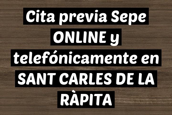 Cita previa Sepe ONLINE y telefónicamente en SANT CARLES DE LA RÀPITA