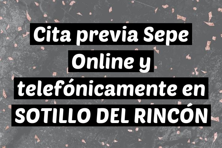 Cita previa Sepe Online y telefónicamente en SOTILLO DEL RINCÓN