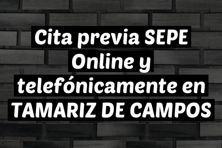 Cita previa SEPE Online y telefónicamente en TAMARIZ DE CAMPOS