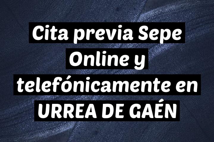Cita previa Sepe Online y telefónicamente en URREA DE GAÉN