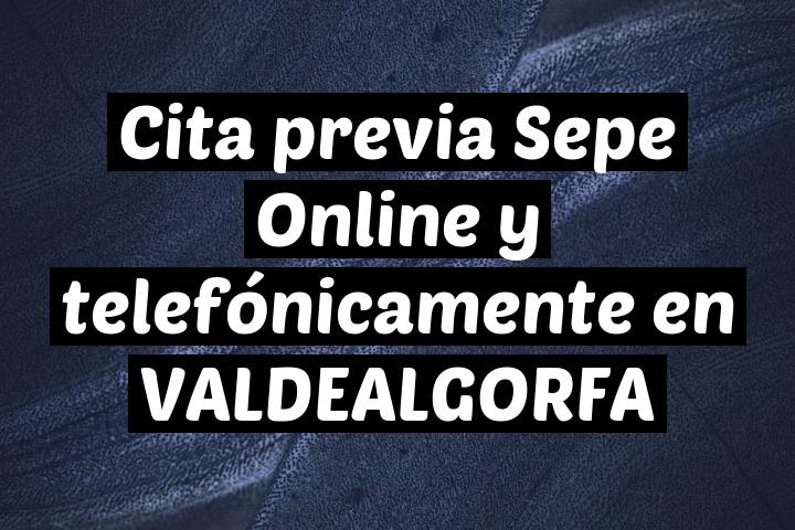 Cita previa Sepe Online y telefónicamente en VALDEALGORFA