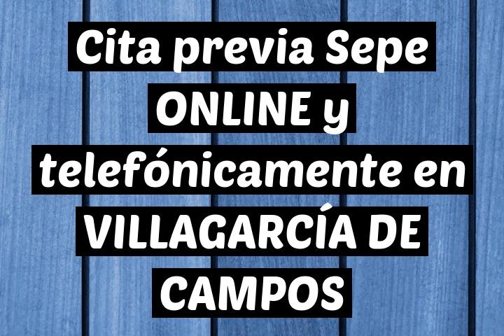 Cita previa Sepe ONLINE y telefónicamente en VILLAGARCÍA DE CAMPOS