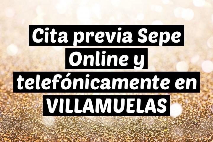 Cita previa Sepe Online y telefónicamente en VILLAMUELAS