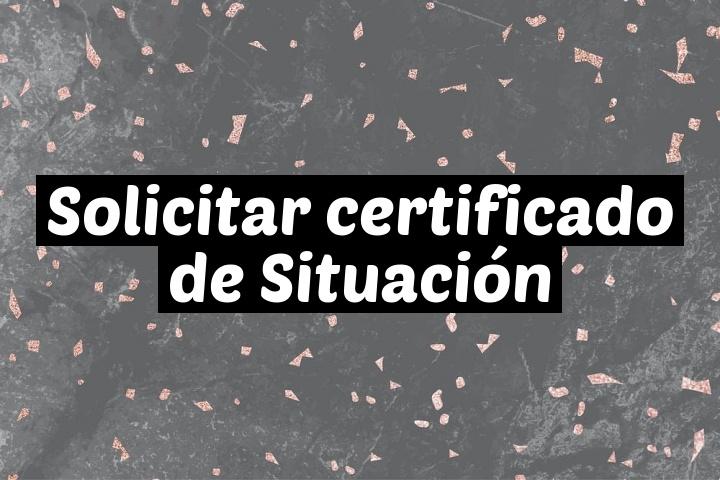 Solicitar certificado de Situación