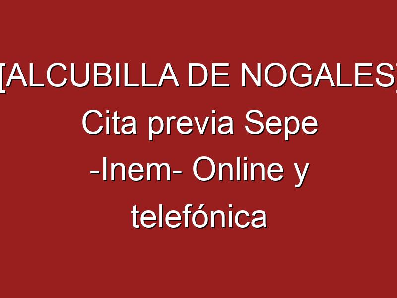 [ALCUBILLA DE NOGALES] Cita previa Sepe -Inem- Online y telefónica