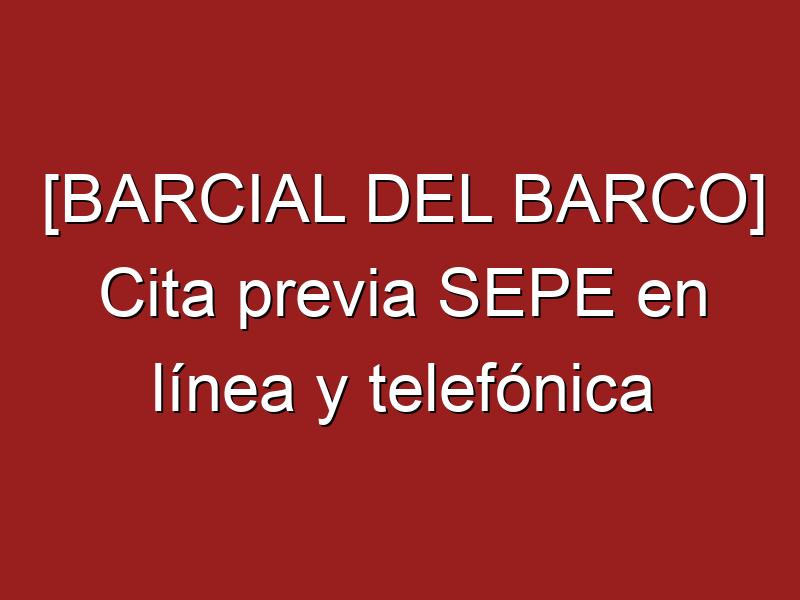 [BARCIAL DEL BARCO] Cita previa SEPE en línea y telefónica