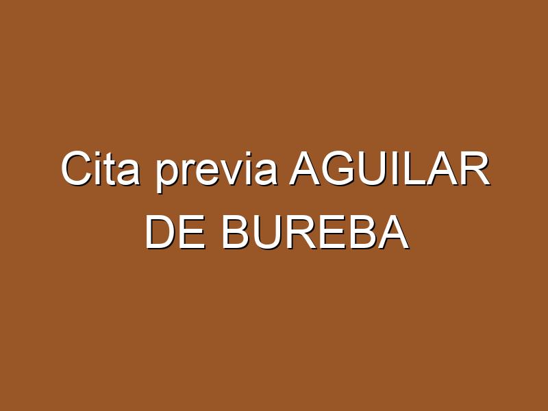 Cita previa AGUILAR DE BUREBA