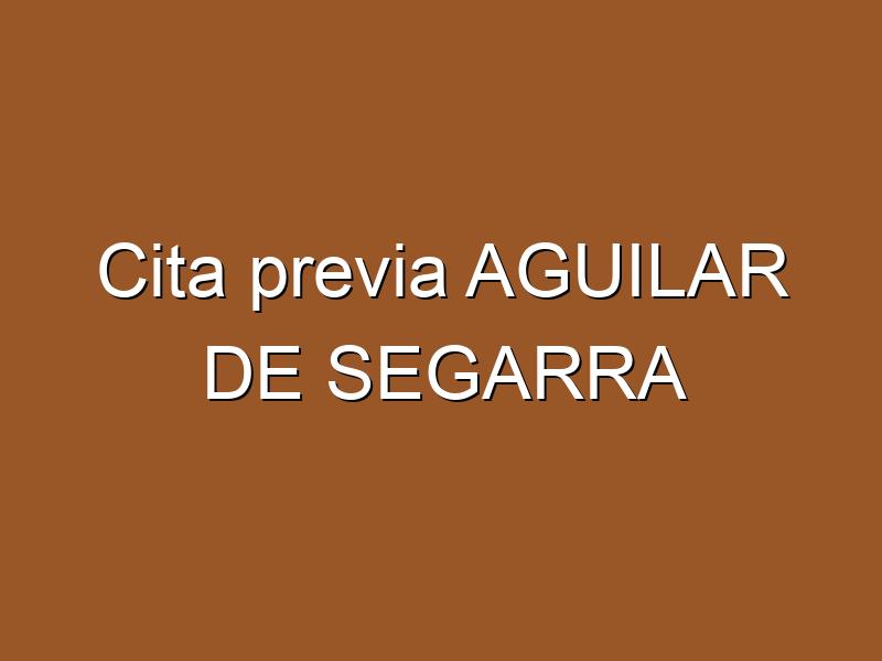 Cita previa AGUILAR DE SEGARRA