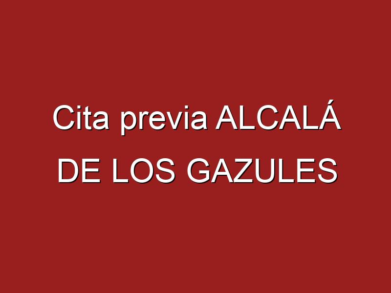 Cita previa ALCALÁ DE LOS GAZULES