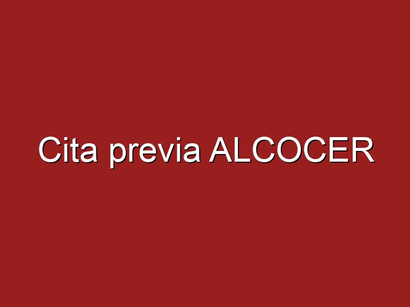 Cita previa ALCOCER