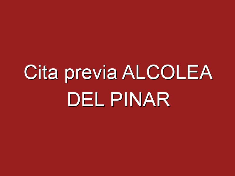 Cita previa ALCOLEA DEL PINAR
