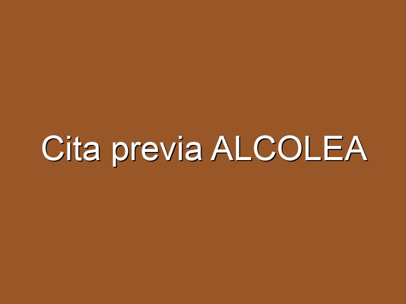 Cita previa ALCOLEA