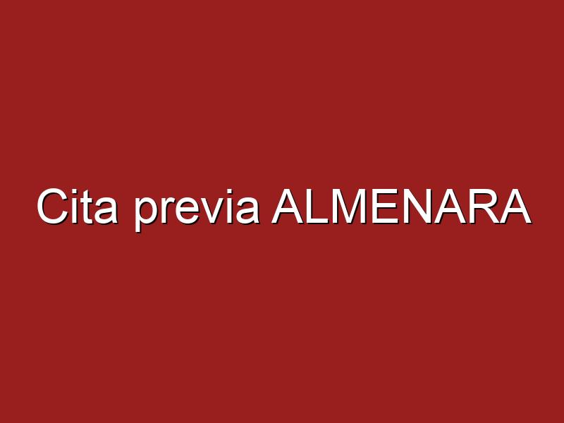 Cita previa ALMENARA