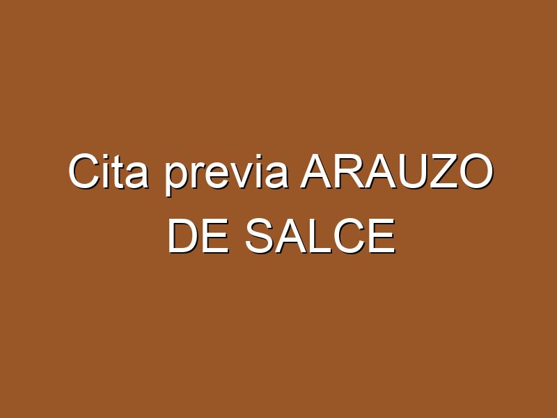 Cita previa ARAUZO DE SALCE
