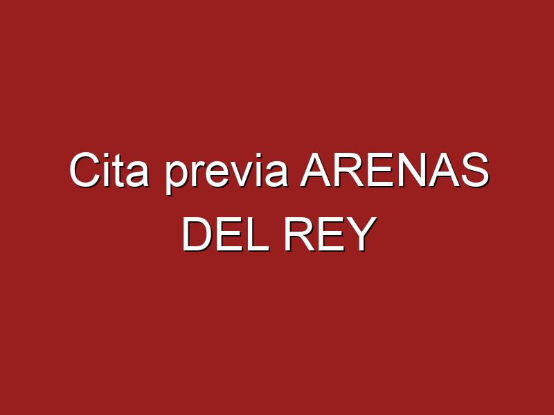 Cita previa ARENAS DEL REY