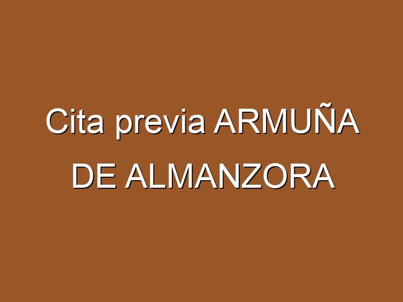 Cita previa ARMUÑA DE ALMANZORA