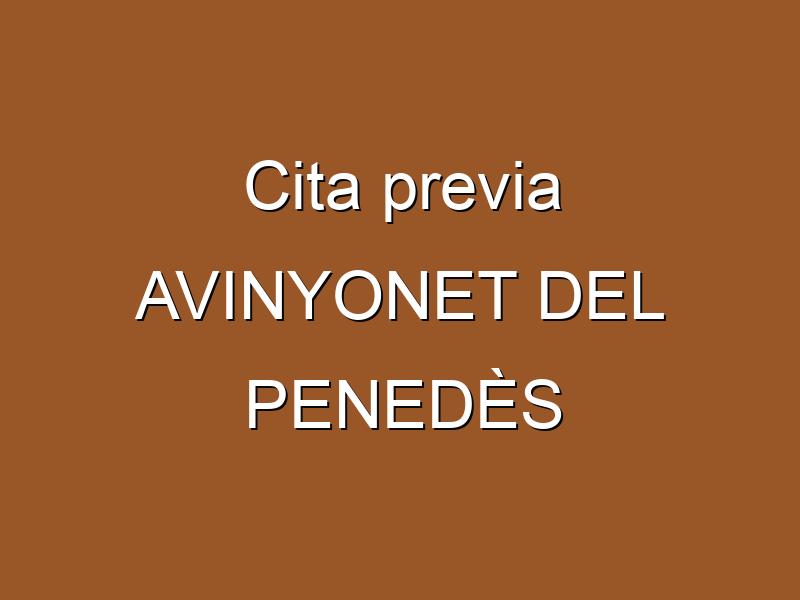 Cita previa AVINYONET DEL PENEDÈS