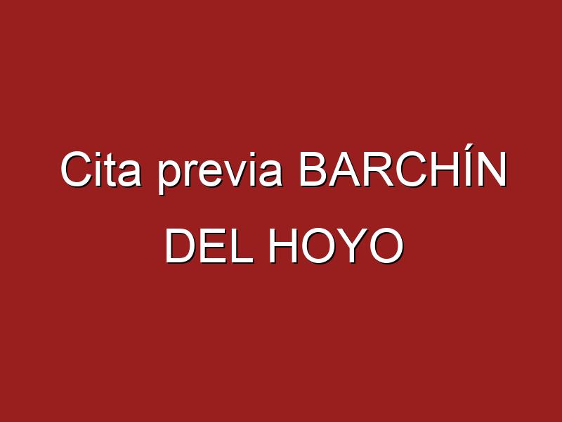 Cita previa BARCHÍN DEL HOYO