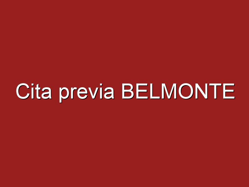 Cita previa BELMONTE