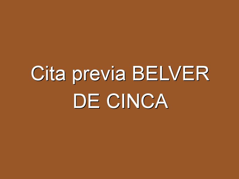 Cita previa BELVER DE CINCA
