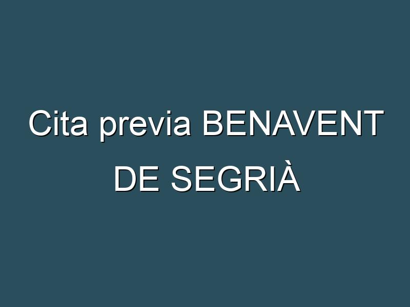 Cita previa BENAVENT DE SEGRIÀ