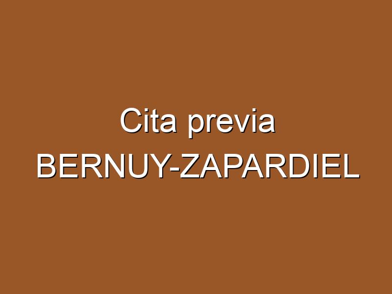 Cita previa BERNUY-ZAPARDIEL