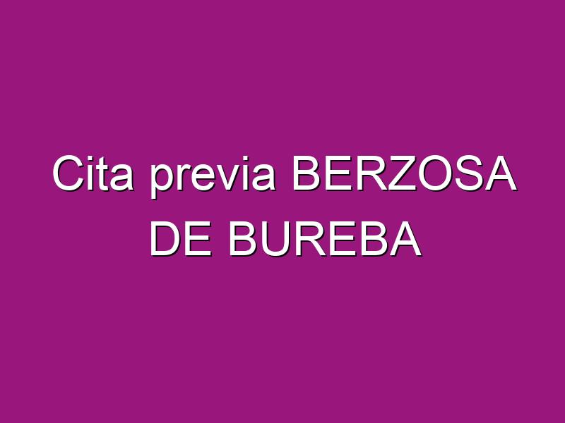 Cita previa BERZOSA DE BUREBA