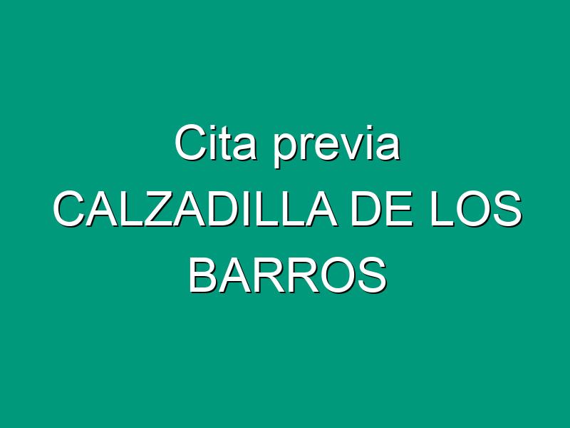 Cita previa CALZADILLA DE LOS BARROS